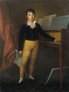 https://flic.kr/p/q5P3Km | Weitsch, Friedrich Georg - Giacomo Meyerbeer as a boy |