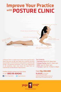 sign up for our posture clinic in kemang, senayan, kg moi, bsd  the best way to learn bikram yoga poses