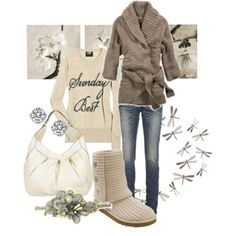 Cozy casual -- perfect for winter.