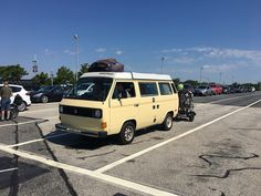 This '82 Volkswagen has been across the country, up and down the east coast, through Canada, and now: Aboard the Cape May-Lewes Ferry!
