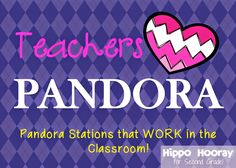 A HUGE list of Pandora stations you can use in the classroom. From classical to current hits, you can be assured that your students will be listening to school appropriate music. This is great for when students need a calming environment to work Music Classroom, Kindergarten Classroom, Future Classroom, Classroom Activities, Classroom Organization, Classroom Management, Classroom Ideas, Behavior Management, Classroom Playlist