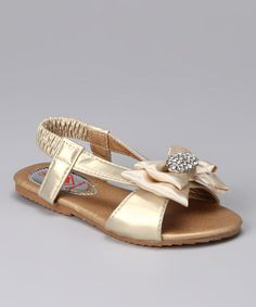 Take a look at this Champagne Katie 244 Sandal by Diamond Footwear on #zulily today!