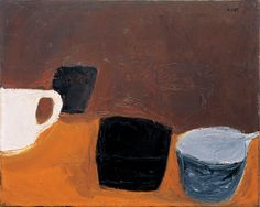 William Scott, Still Life with White Mug, 1957, Oil on canvas, 41 × 51 cm / 16¼ × 20 in, Kettle's Yard, University of Cambridge