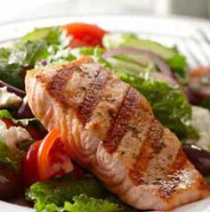 As delicious as it is, you can use this Greek Salad with Grilled Salmon as a blueprint. Change out the dressing, the olives and the cheese to make it Italian or American. So fun!