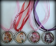 **New Boutique Bottle cap Necklace**      *1* Ever After High Necklace    Choose 1 from the following:    Apple White  Raven Queen  Briar Beauty