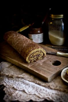 Adventures in Cooking: Roasted Hazelnut Nutella Roulade