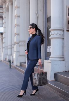 Petite Interview Suit / Professional Outfit - business professional outfits for interview Business Professional Attire, Professional Dresses, Business Fashion, Young Professional, Business Casual, Business Suits For Women, Women's Professional Fashion, Office Attire Women Professional Outfits, Corporate Attire Women