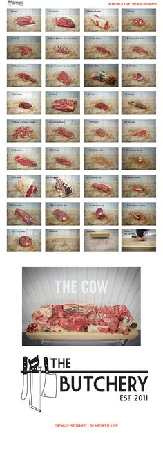 Introducing the cow. This is what a whole side of beef looks like when butchered…