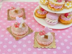 French Pink Dome Cake 'Let Them Eat Cake' by ParisMiniatures