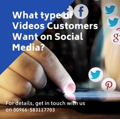Most of the #customers are using Facebook, Instagram, Twitter, and YouTube differently, so you should be posting different types of videos on different platforms too.  For facebook, the customers are looking for updates, twitter for news and trends, #instagram for inspiration and youtube for learning.  Understanding customers behaviour and desire is a key, if you want to craft a message and #videocontent that gets results.  Feel free to get in touch with us on 00966-583117703. Customer Behaviour, Behavior, For Facebook, Facebook Instagram, What Type, Being Used, Platforms, Digital Marketing, How To Get