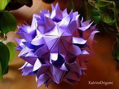 Origami ✿ Sudden Flame ✿ Kusudama - YouTube