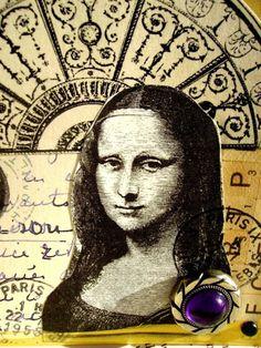 Mona Lisa 4x4 French Letter 4x4 Art by lynnetteaprilarts on Etsy, $8.00