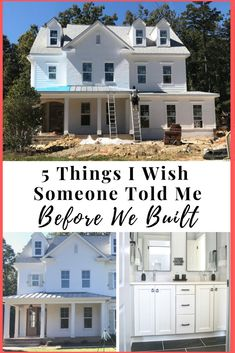 5 Tips Before Building Your Home! // Discussing our new construction process, helpful ideas before building your custom home, mistakes and challenges you will face. Also building ideas to build your home affordably and cut costs / cheap. Build Your Own House, Build Your Dream Home, My Dream Home, Cheap Houses To Build, Welding Table, Custom Home Builders, Custom Homes, Custom Home Plans, Custom Home Designs