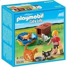 PLAYMOBIL 5535 Familia de Gatos con Cesta