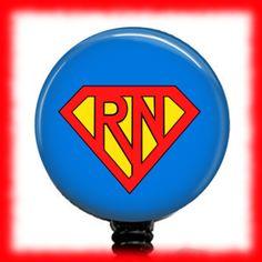 Super Nurse ID Badge Reel ID Badge Holder Retractable Badge