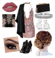 """""""Party night🍸"""" by hippiequeen14 on Polyvore featuring Jimmy Choo, Yves Saint Laurent, Bling Jewelry, Ippolita and Lime Crime"""