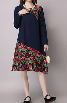Women loose fit over plus size retro ethnic flower dress chic tunic pregnant, Ladies unfastened match over plus dimension retro ethnic flower gown stylish tunic pregnant Ladies unfastened match over plus dimension retro ethnic f…, Kurta Designs, Vestido Multicolor, Short Women Fashion, Batik Dress, Mode Hijab, African Dress, Flower Dresses, Casual Chic, Casual Wear