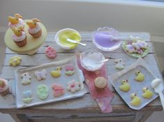 Dollhouse miniature Spring baking by Kimsminibakery on Etsy