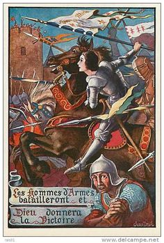 by Jean Droit ~ I am a friend of the grandson, Rick. Joan D Arc, Saint Joan Of Arc, St Joan, Catholic Art, Religious Art, Types Of Armor, Jeanne D'arc, A Knight's Tale, Female Knight