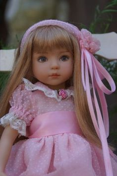"""Effner 13"""" Little Darling *PRECIOUS IN PINK* Dress + by Ladybugs Doll Designs"""