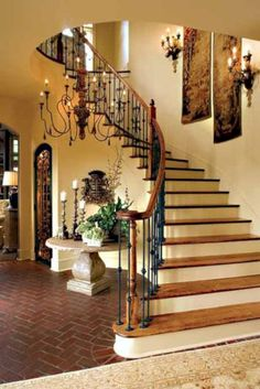 Nice 45 Amazing Rustic Stairs for Interior Design http://homefulies.com/index.php/2018/06/19/45-amazing-rustic-stairs-for-interior-design/