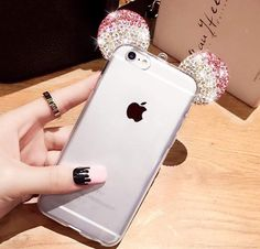 Rhinestone mickey mouse ears case 12,90€ Iphone 5/6/7 -Samsung S6/S7/J5/J7