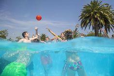 #Waterbasket en nuestra piscina! Waterbasket in our swimming pool!