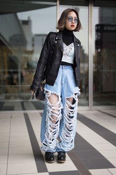 moda japonesa fishnet