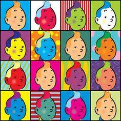Tintin à la Andy Warhol (Wall Art? Andy Warhol, Haddock Tintin, Album Tintin, Pop Art Images, Bing Images, Bd Art, Ligne Claire, Bd Comics, Popular Art