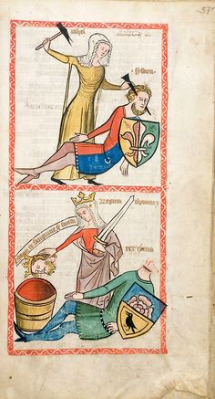 Pages from the Speculum Humanae Salvationis, Westphalia or Köln,c. 1360  Reminds me of my ex boyfriend