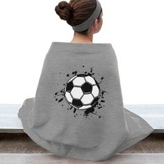 Soccer Stadium Blanket | Stay warm while watching your favorite soccer team. Customize this plush stadium blanket with your favorite color, team name, or player's number
