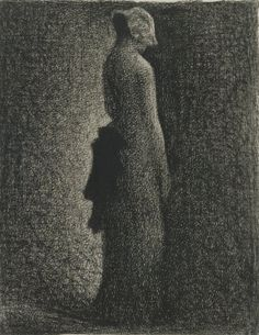 Georges Seurat  The Black Bow, c. 1882