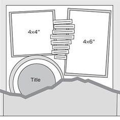 Multi-Photo Scrapbook Page Sketches 31-60