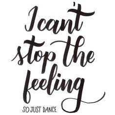 I can't stop the feeling  So just dance, dance, dance   Pen used: @tombowusa dual brush pen  #justintimberlake #cantstopthefeeling #handlettering #brushlettering #lettering
