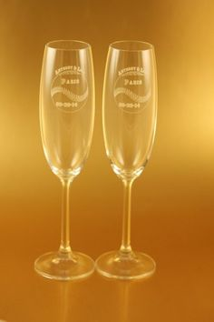 Unique Hand Blown Square Bottom Champagne Glass Flutes