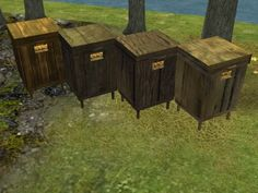 The beehive now has rustic colors to blend in better with your medieval farm.