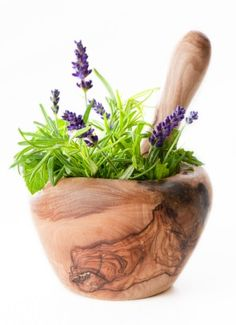 Natural Hair, Herbs for Hair  I also LOVE this olive wood pestle and mortar.