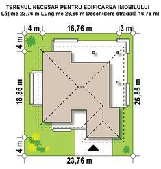 PROIECT CD-1021 « Firmă de construcții case Casa Top, New Homes, Floor Plans, Houses, Floor Plan Drawing, House Floor Plans