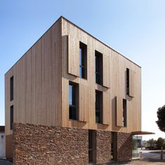 Chrystelle Sanaa's Municipal Technical Centre is clad in thin strips of cedar