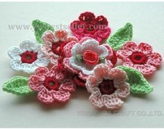 Love pretty groupings, they look great on hairbands or retro cardigans....
