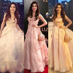 Three Shades of bea from yesterday  Loving that clutch and her Dress  Mawra Hocane at #LSA17.
