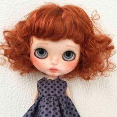 Cute Redhead Blythe Doll