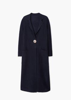 Premium - long wool coat | MANGO
