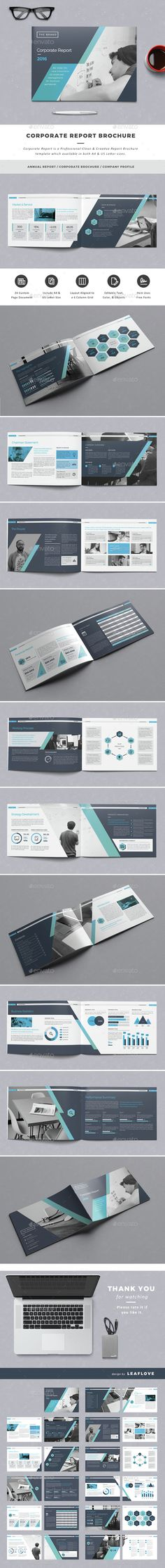 Corporate Report Brochure Template InDesign INDD. Download here: http://graphicriver.net/item/corporate-report-brochure/14774858?ref=ksioks