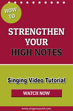 How To Strengthen Your High Notes #singing #music