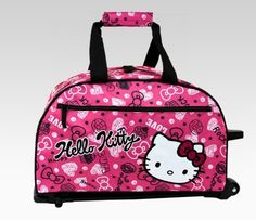 Pink and Black Hello Kitty Bag Hello Kitty Rooms, Hello Kitty Bag, Sanrio Hello Kitty, Here Kitty Kitty, Hello Kitty Cookies, Hello Kitty Accessories, Travel Bag, Travel Luggage, Girly Things
