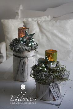 Weihnachtsdeko - Adventsdeko Adventssäule  Weihnachtsstimmung groß - ein Designerstück von EDELWEISS-DEKO bei DaWanda