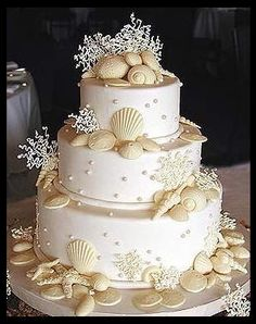beach themed wedding cakes - Google Search