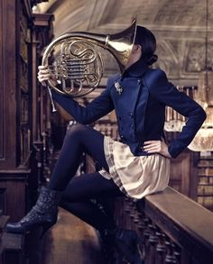 Um... Speaking as a French horn player, I think your lips go on the other end...