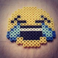 Emoji perler beads by Beccie